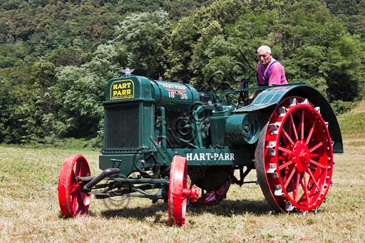 Old tractorMake: Hart ParrModel: 18/36Year: about 1920Fuel: crude oil and/or gasolineNumber of Cylinders: 2Displacement: about 7/8.000 ccHorse Power: 18 HP at the wheel and 38 HP  at the PTO (Power Take-Off)Characteristics: The only complete tractor of this model in Europe