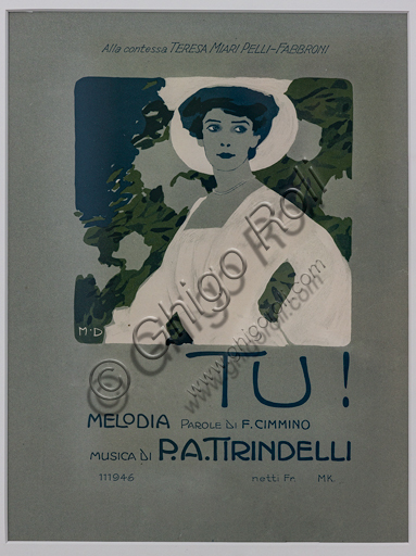 """""""Tu!"""", Illustration by Marcello Dudovich, 1899-1906, chromolithography on paper."""
