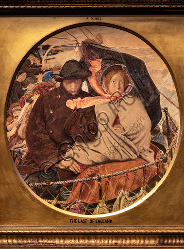 """""""The Last of England"""",  (1864-6) di Ford Madox Brown (1821 - 93); oil painting on canvas."""