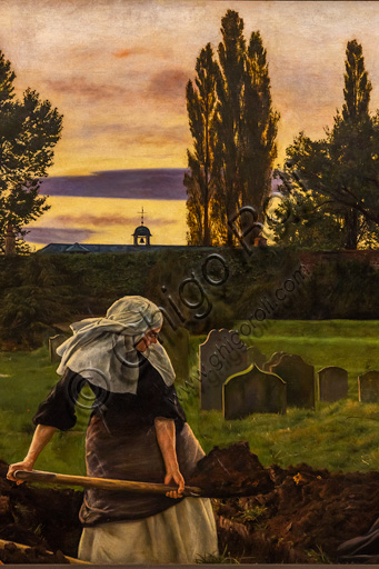 """""""The Rest Valley"""",  (1858-9)  by John Everett Millais (1829 - 96); oil painting on canvas."""