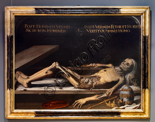 "Fontanellato, Labirinto della Masone, Franco Maria Ricci Art Collection: ""Vanitas"", oil painting."