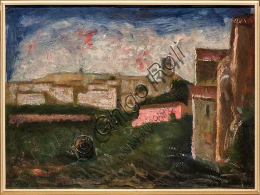 """Museo Novecento: """"Veduta di Coreglia"""", di Carlo Carrà, 1925. Olio su tela."""