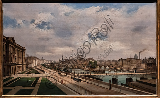 """Ippolito Caffi: """"View of Paris from the Louvre Palace"""", oil painting, 1855."""