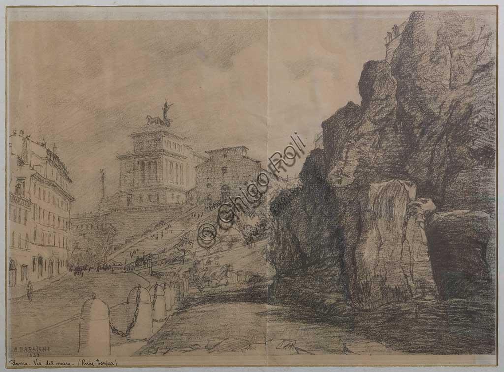 """Collezione Assicoop - Unipol: """"Veduta romana"""", di Augusto Baracchi (1878 - 1942)."""