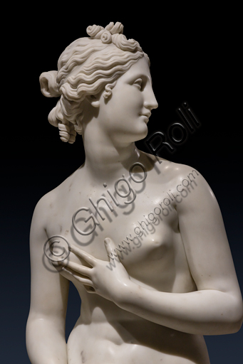 """""""Venere"""", 1817-1820, di Antonio Canova (1757 - 1822), marmo. Particolare."""
