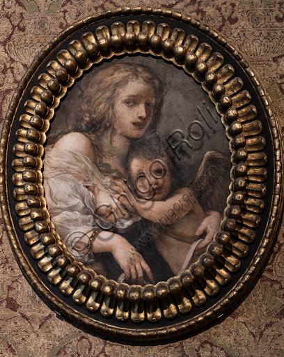 "Baldassarre Franceschini, known as Volterrano: ""Venus and Cupid"", detached fresco, half XVII century."