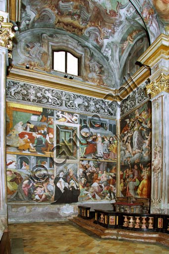 Vercelli, Church of St. Christopher, Chapel of the blessed Virgin or of the Assunta: frescoes  by Gaudenzio Ferrari, 1529 - 1534.
