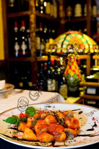 Verona, Ristorante Tre Marchetti: un piatto di gnocchi al tartufo.