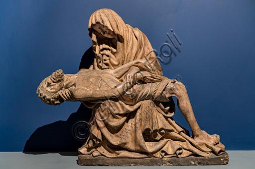 """""""Vesperbild"""" (Pietà), scultura in terracotta, 1420 - 30, di provenienza dall'Alta Svevia."""