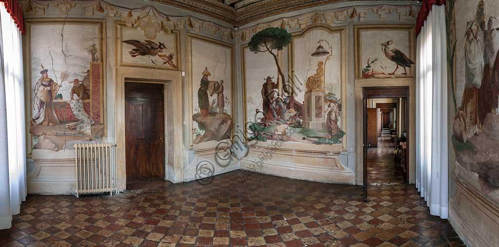 Vicenza, Villa Valmarana ai Nani, Foresteria: veduta della stanza cinese.  Affreschi di Giandomenico Tiepolo, 1757.