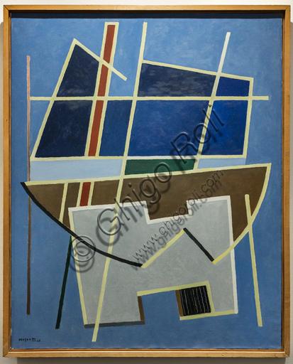"""Museo Novecento: """"Conviction"""", di Alberto Magnelli, 1968. Olio su tela."""