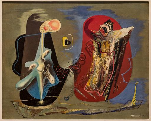 """Museo Novecento: """"Vita bioplastica"""", di Enrico Prampolini, 1938. Tempera e smalto su tavola."""
