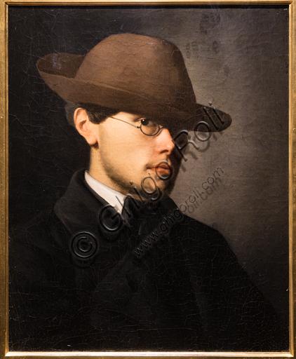 "Vito D'Ancona: ""Portrait of Telemaco Signorini"", 1855, oil painting on canvas."
