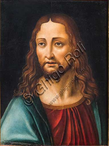 "Bergamo, Bernareggi Museum: ""The Saviour's Face"", by Marco d'Oggiono (1475 - 1530)."