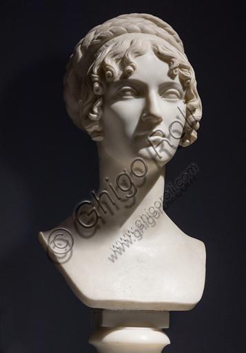 """""""Wilhelmine Benigna Biron duchess of Sagan"""", 1818, by Bertel Thorvaldsen (1770 - 1844), marble."""