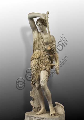 """Roma, Musei Capitolini, Sala del Gladiatore:  """"Amazzone Ferita"""",  da un originale di Fidia. La testa è una replica di quella dell'amazzone di Policleto.Sono consistenti i restauri settecenteschi, operati dallo scultore Bartolomeo Cavaceppi."""
