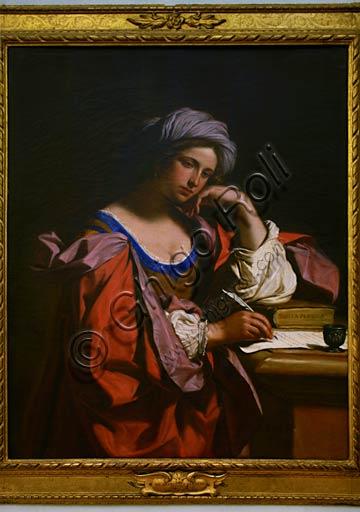 """Roma, Musei Capitolini, Pinacoteca: """"Sibilla Persica"""", di Guercino  (Giovanni Francesco Barbieri), 1647."""