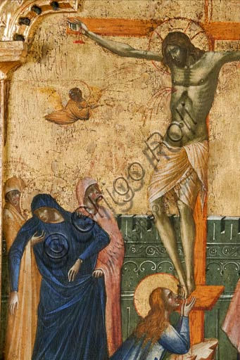 Croatia, Rab (Arbe), Museum of the Cathedral: Paolo Veneziano, Polyptych of the Crucifixion (1350-55). Detail.