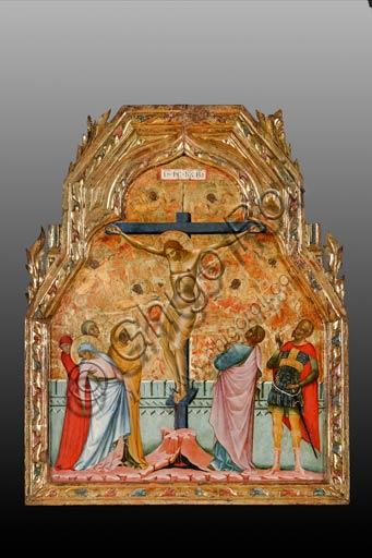 Roma, Museo Nazionale di Palazzo Venezia (già nella chiesa di San Giorgio a Pirano, Istria): Paolo Veneziano, Crocifissione (1355).  Tempera e olio su tavola cm 56 x 69.