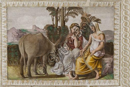 Parma, San Secondo, Rocca Dei Rossi: Sala dell'Asino d'Oro, affresco di ignoto, forse Vincenzo Tamagni, scena dalle Metamorfosi di Apuleio.