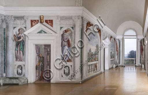 "Maser, Villa Barbaro, the Crociera Room: view. Frescoes by Paolo Caliari, known as ""il Veronese"", 1560 - 1561."