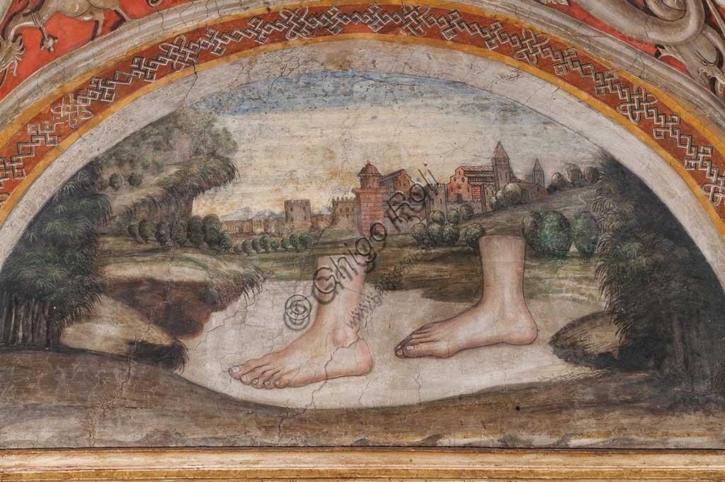 Parma, Ex-Monastero di San Paolo: Camera con affreschi di A. Araldi (1514) . Nella volta, scene dell'Antico e del Nuovo Testamento, decorazioni a grottesche, putti musicanti. Particolare.