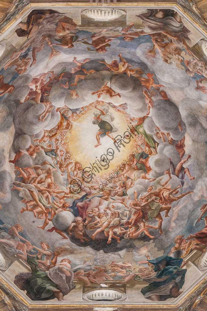 """Parma, Duomo (Cattedrale di Santa Maria Assunta), cupola:  """"Assunzione della Vergine"""", affrescata tra il 1526 e il 1530 Antonio Allegri, detto il Correggio."""
