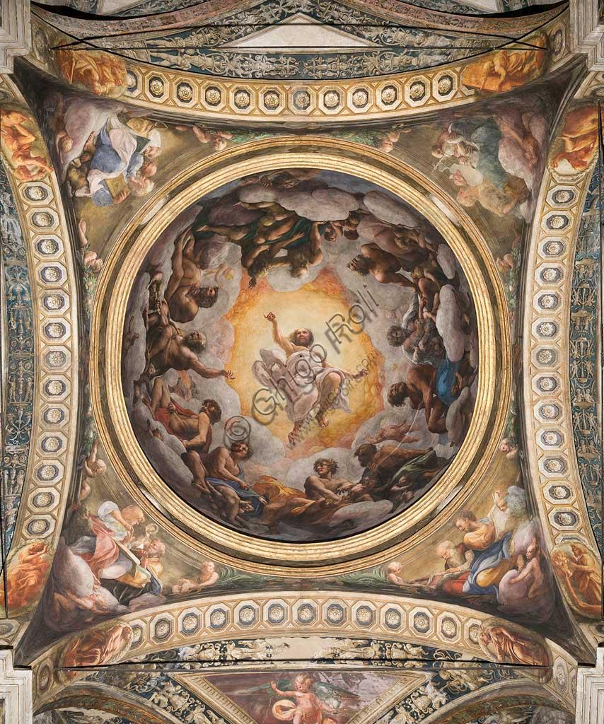 """Parma, Chiesa di San Giovanni Evangelista, cupola: """"Ascensione di Cristo"""" , del Correggio (Giovanni Allegri) (1520-1522)."""