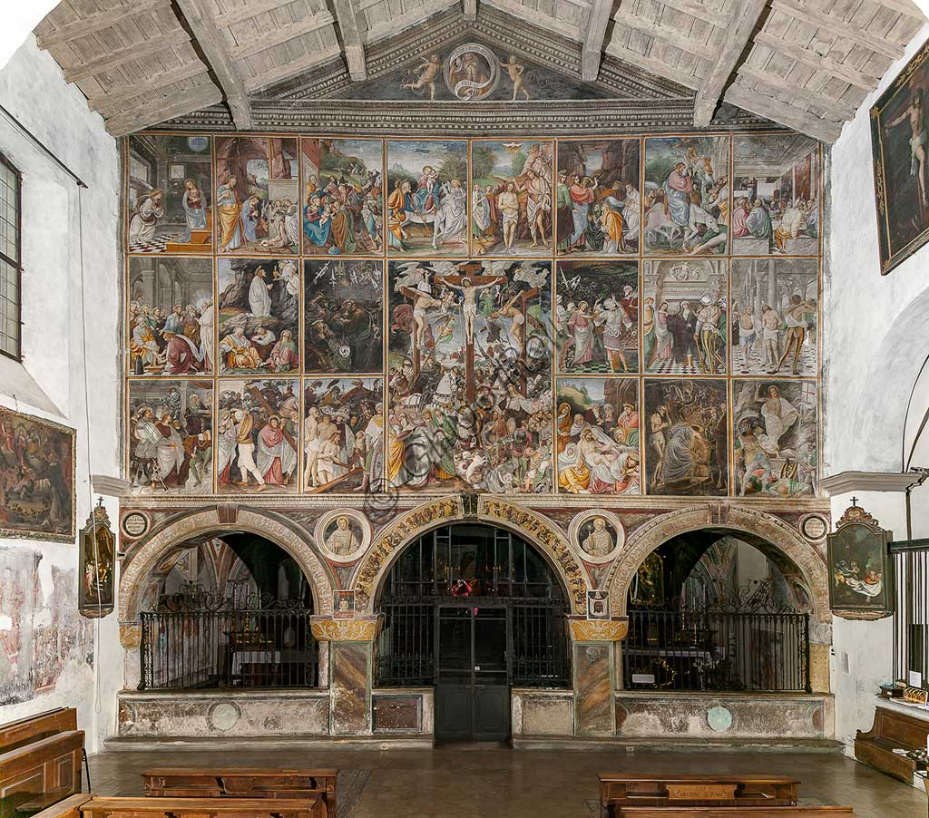 "Varallo Sesia, Church of Santa Maria delle Grazie: frescoes of the Gaudenzio Ferrari wall ""The life and the Passion of Christ"", by Gaudenzio Ferrari, 1513."