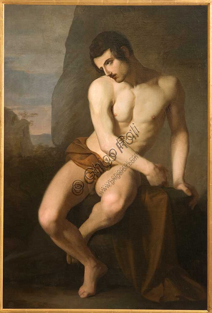 """Assicoop - Unipol Collection: """"Male Nude (Prometheus)"""", by Adeodato Malatesta (1806 - 1891), oil on canvas."""