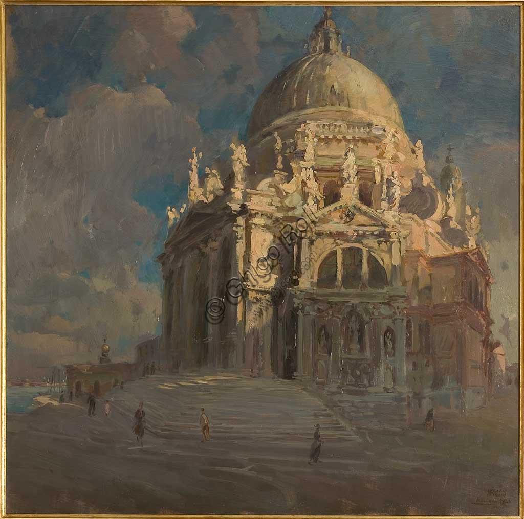 """Collezione Assicoop - Unipol: """"La Salute al tramonto"""", olio su tela, 1923, di Mario Vellani Marchi (1895 - 1979)."""