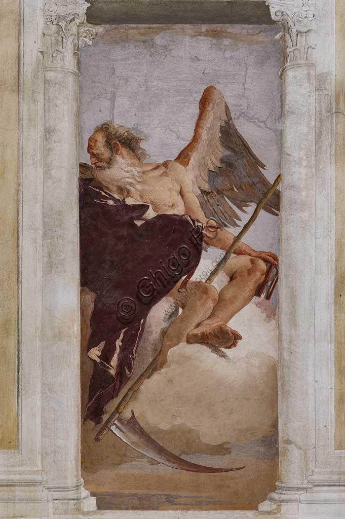"""VIicenza, Villa Valmarana ai Nani, Foresteria, Stanza dell'Olimpo:  """"Crono"""". Affresco di Giambattista Tiepolo, 1757."""