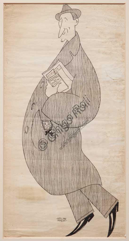 "Assicoop - Unipol Collection: Mario Vellani Marchi (1895-1979), ""Renzo Ferrari"". Black ink on paper."