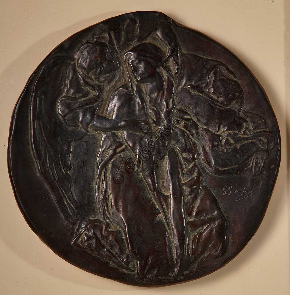 "Assicoop - Unipol Collection: Giuseppe Graziosi (1879-1942), ""The Annunciation"". Bronze."