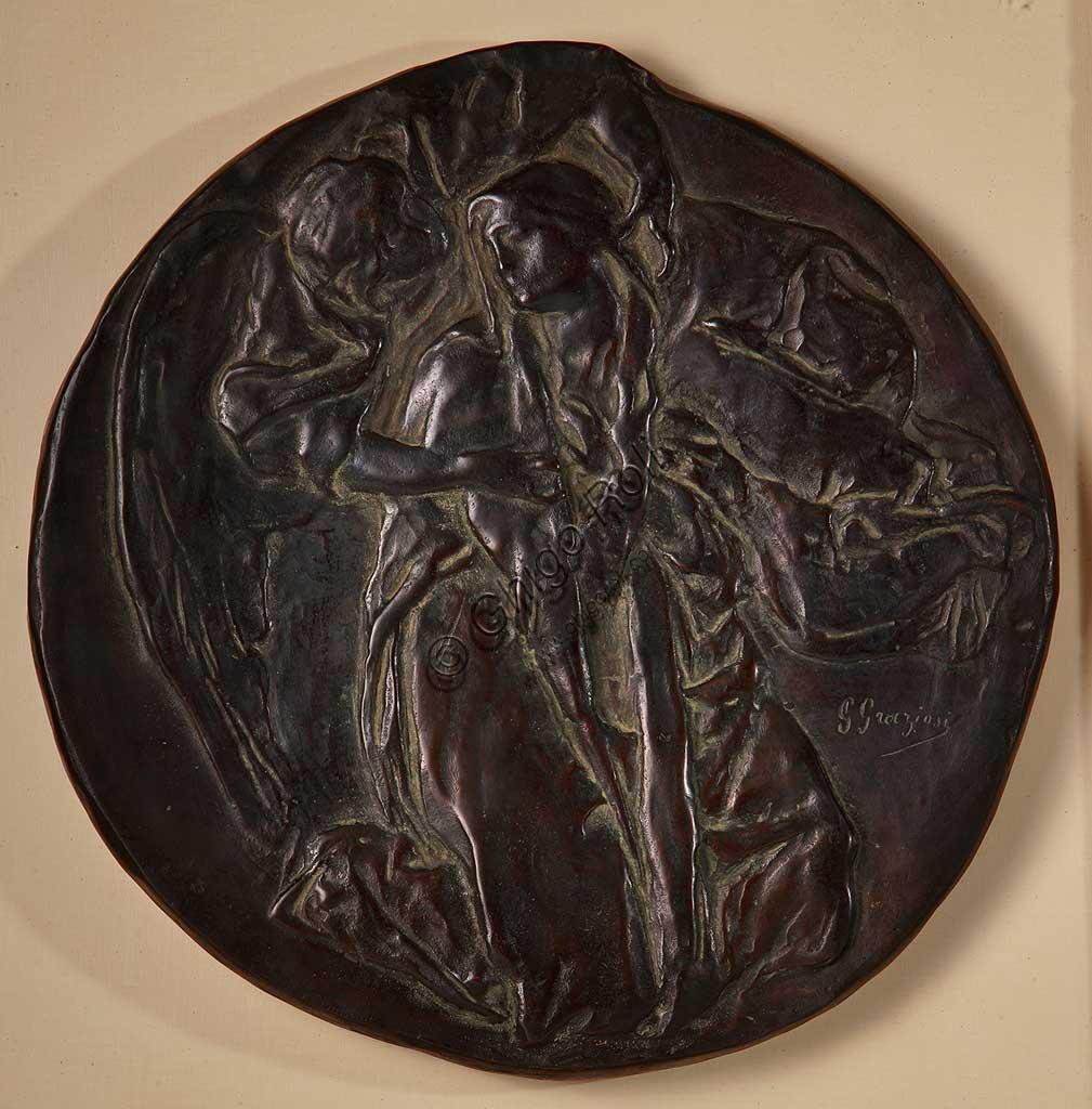 """Collezione Assicoop - Unipol: Giuseppe Graziosi (1879-1942), """"Annunciazione"""". Bronzo."""