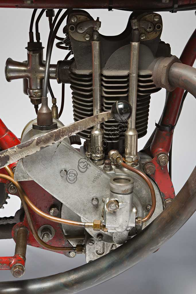 Ancient Motorbike Motopiana Tipo Corsa 250. Engine.