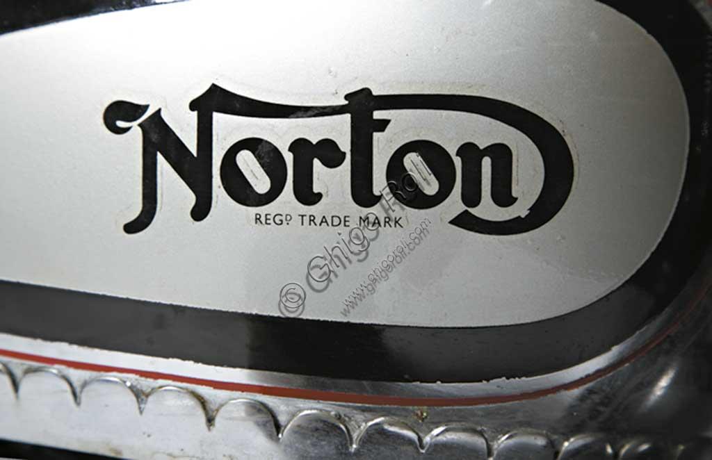 Ancient Motorbike Norton 500 CS1. Trademark.