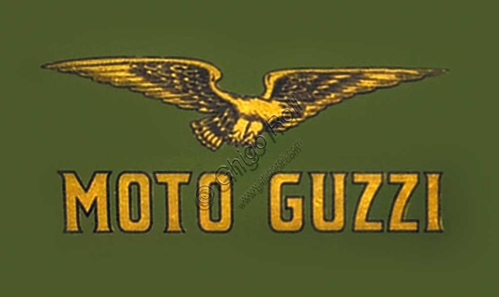 "Ancient Motorbike Moto Guzzi  ""Normale"". Trademark."