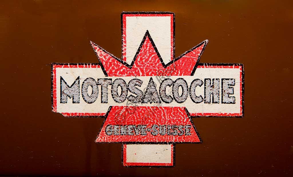 Ancient Motorbike Motosacoche M5. Trademark.