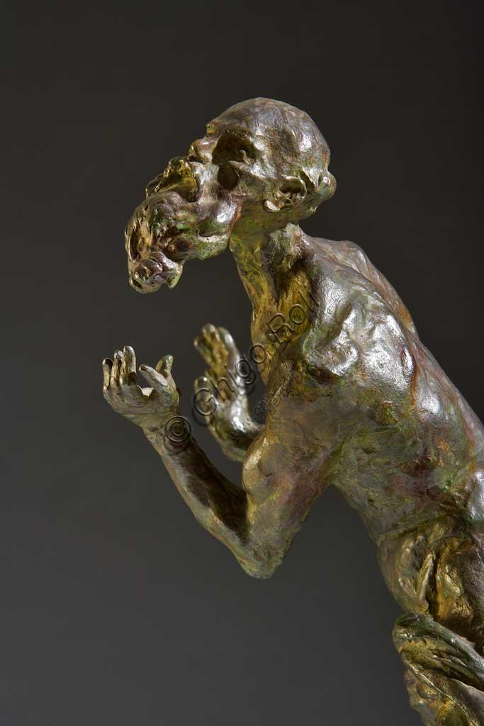"""Collezione Assicoop - Unipol: Giuseppe Graziosi (1879-1942), """"San Girolamo"""". Bronzo, h cm 51."""