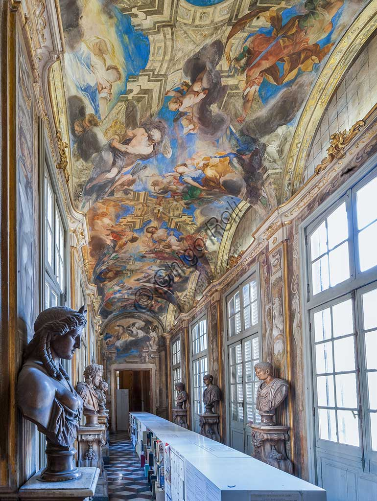 "Genoa, Palazzo Balbi Senarega,: the Loggia with frescoes ""Olympian Divinities"" and ""The Rape of Proserpina"" by Valerio Castello e Andrea Sighizzi.World Heritage UNESCO."