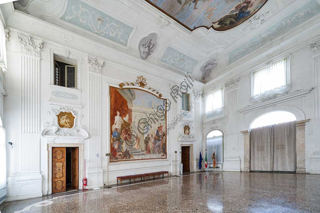 Villa Cordellina: view of  the central hall and the frescoes by Giambattista Tiepolo, 1743.