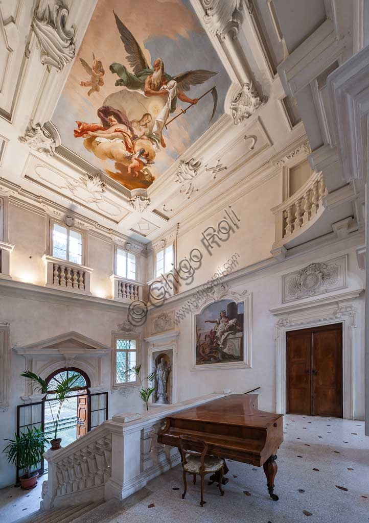 Villa Loschi  Motterle (formerly Zileri e Dal Verme): view of the staircase with allegorical frescoes by Giambattista Tiepolo (1734).