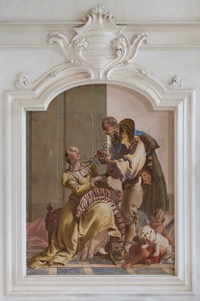 "Villa Loschi  Motterle (formerly Zileri e Dal Verme), the hall of honour: ""The Nuptial Harmony"", allegorical fresco by Giambattista Tiepolo (1734)."