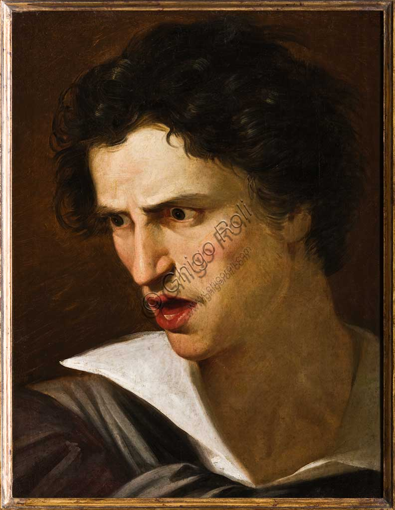 """Assicoop - Unipol Collection:  Adeodato Malatesta  """"Male Portrait, The Mad Man""""; oil on canvas."""