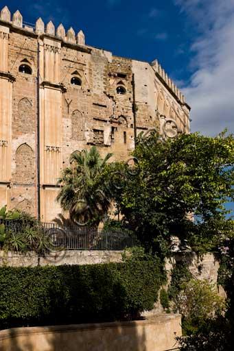 Palermo, Palazzo Reale o Palazzo dei Normanni: veduta del lato Sud Ovest.
