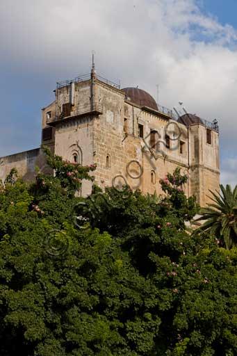 Palermo, Palazzo Reale o Palazzo dei Normanni: veduta della Torre Pisana da Ovest.