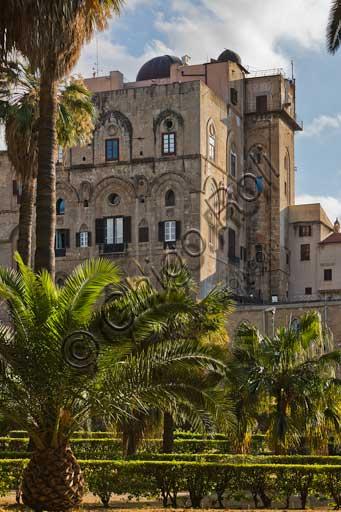 Palermo, Palazzo Reale o Palazzo dei Normanni: prospetto Nord-orientale della Torre Pisana.