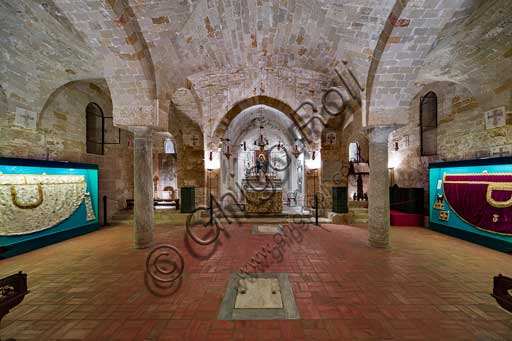 Palermo, Palazzo Reale o Palazzo dei Normanni,  Cappella Palatina (Basilica), Cripta (Chiesa Inferiore): veduta.