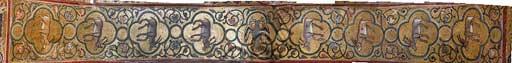 Palermo, Palazzo Reale o Palazzo dei Normanni, Torre Pisana, Sala di Re Ruggero(sala voluta da Re Ruggero II d'Altavilla): decorazione del sottarco della volta con mosaici di animali. Questi mosaici risalgono al periodo di Federico II di Svevia.